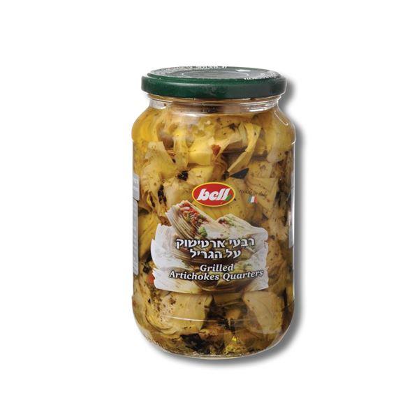 תמונה של רבעי ארטישוק על הגריל בשמן חמניות