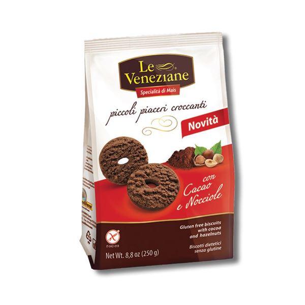 תמונה של ביסקוויט מקמח תירס שוקולד ואגוזים