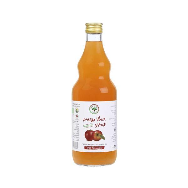 """תמונה של 7290014318663 חומץ תפוחים אורגני """"עם האמא"""" 750 מ""""ל (12)"""